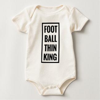 Body Para Bebê a bola do pé pensa o rei ou o pensamento do
