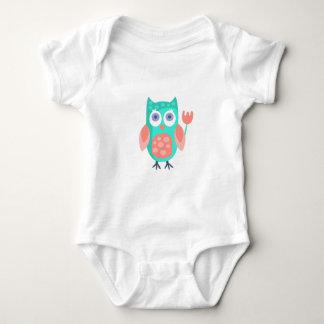 Body Para Bebê A coruja com partido atribui Funky estilizado
