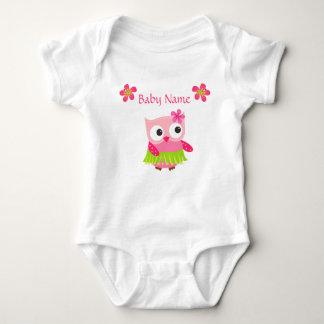 Body Para Bebê A coruja do Bodysuit do bebê, flores tropicais,
