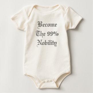 Body Para Bebê A crista da nobreza de 99% ocupa o t-shirt do bebê