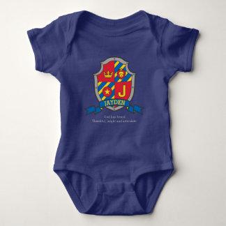 Body Para Bebê A crista do significado do nome de letra de Jayden