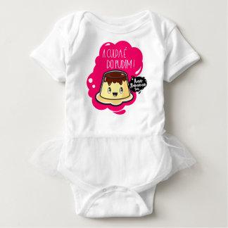 Body Para Bebê A Culpa é do Pudim! - Body Tutu