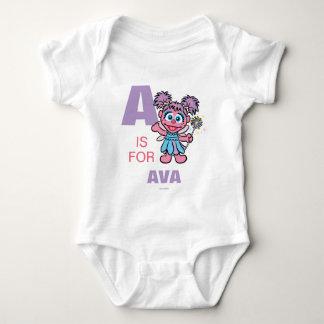 Body Para Bebê A é para Abby Cadabby que | adicionam seu nome