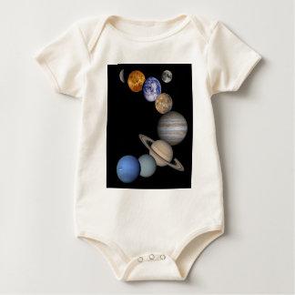 Body Para Bebê A escala do sistema solar nossos planetas
