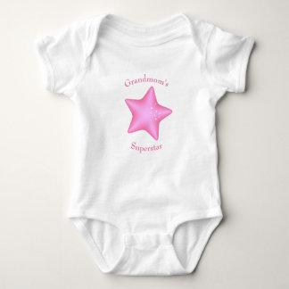 Body Para Bebê A estrela mundial de Grandmom