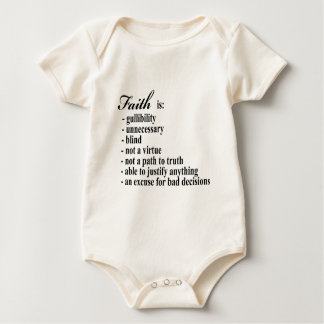 Body Para Bebê A fé é gullibility