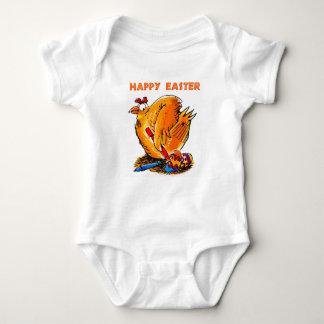 Body Para Bebê a galinha do felz pascoa pinta seus próprios