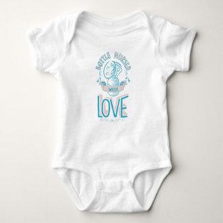 Body Para Bebê A garrafa nutriu com rosa/azul do Bodysuit do amor