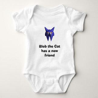 Body Para Bebê A gota o gato tem um amigo novo