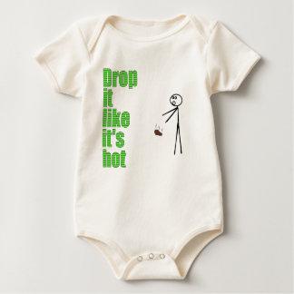 Body Para Bebê A gota que gosta d está quente
