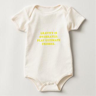 Body Para Bebê A gravidade é Frisbee final avaliado em excesso do