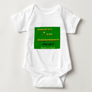 Body Para Bebê A independência de Jamaica 55th (verde)