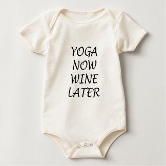 Body Para Bebê A ioga Wine agora mais tarde