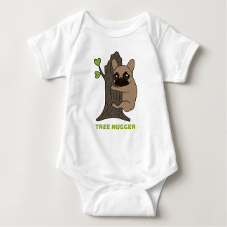 Body Para Bebê A jovem corça preta Frenchie da máscara é um