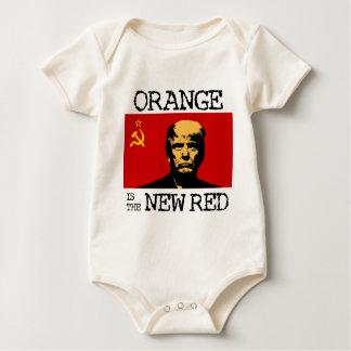 Body Para Bebê A laranja é o vermelho novo