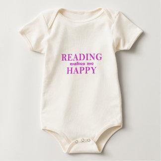 Body Para Bebê A leitura faz-me feliz