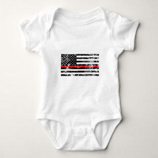 Body Para Bebê A linha vermelha fina