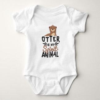 Body Para Bebê A lontra agradável é meu impressão animal do