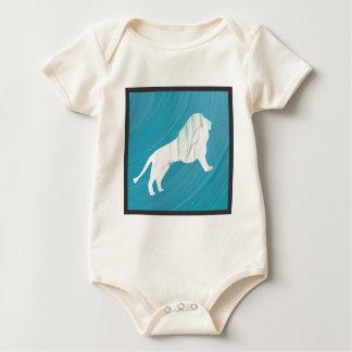 Body Para Bebê A majestade 1 do leão [moldada \