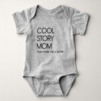 Body Para Bebê A mamã legal da história, faz-me agora uma garrafa