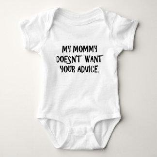 Body Para Bebê A mamãe não quer o conselho