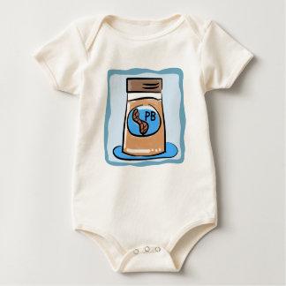 Body Para Bebê A manteiga de amendoim junta o t-shirt