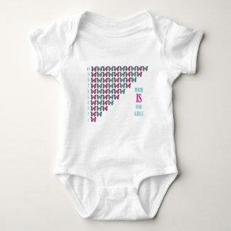 Body Para Bebê A matemática é para meninas, mim ama a matemática,