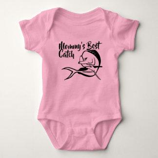 Body Para Bebê A melhor captura da mamã - Bodysuit da pesca de
