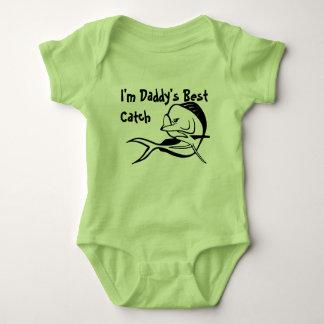Body Para Bebê A melhor captura do pai - Bodysuit da pesca de