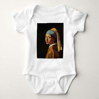 Body Para Bebê A menina com um brinco da pérola., por Johannes