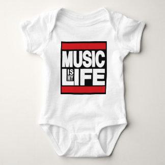 Body Para Bebê A música é meu vermelho da vida