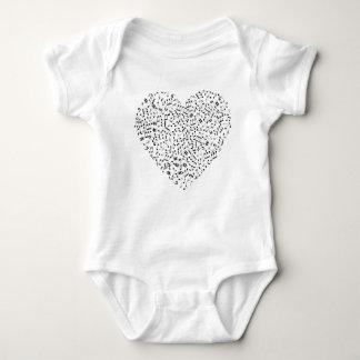 Body Para Bebê A música nota o coração