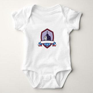 Body Para Bebê A navio de guerra Stars a crista das listras retro