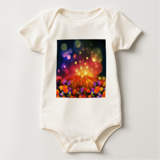 Body Para Bebê A noite é cheio da cor que aprecia a vida