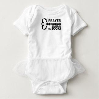 Body Para Bebê A oração é a chave a todas as portas
