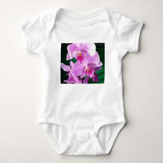 Body Para Bebê A orquídea floresce close up no rosa