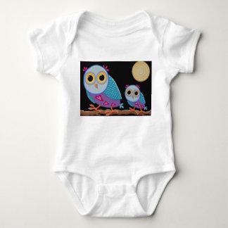 Body Para Bebê A patrulha da noite, corujas bonitos em um ramo