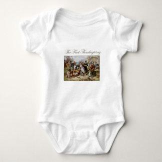 Body Para Bebê A primeira acção de graças