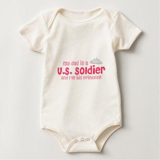 Body Para Bebê A princesa do soldado