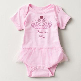 Body Para Bebê A princesa Mia, pica o tutu, adiciona o nome do