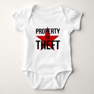 Body Para Bebê A propriedade é roubo - comunista socialista do