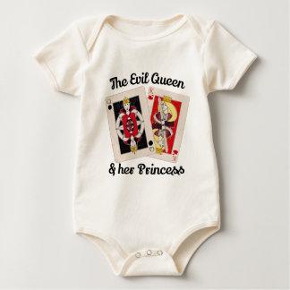 Body Para Bebê A rainha má e sua princesa Tshirt