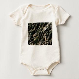 Body Para Bebê a rocha dobra a textura