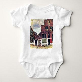 Body Para Bebê A rua pequena, por Johannes Vermeer