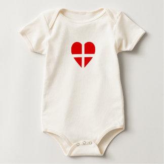 Body Para Bebê A suiça/suíço Bandeira-Inspirou corações