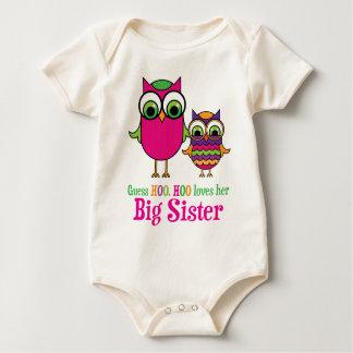 Body Para Bebê A suposição Hoo Hoo ama suas corujas da irmã mais