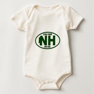 Body Para Bebê A taxa viva de New Hampshire ou morre