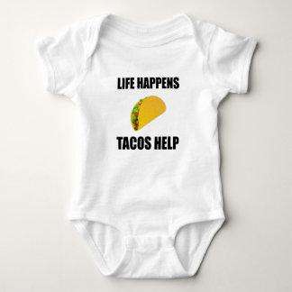 Body Para Bebê A vida acontece ajuda do Tacos