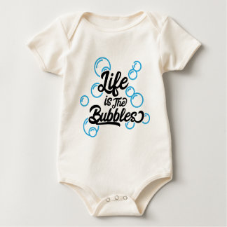 Body Para Bebê a vida é as citações da sereia das bolhas que