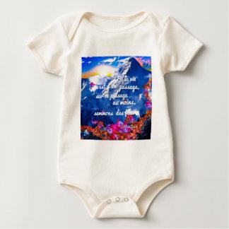 Body Para Bebê A vida é um cruzamento com flores